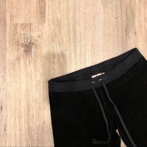 Juicy Couture Black Velour Sweat Pants